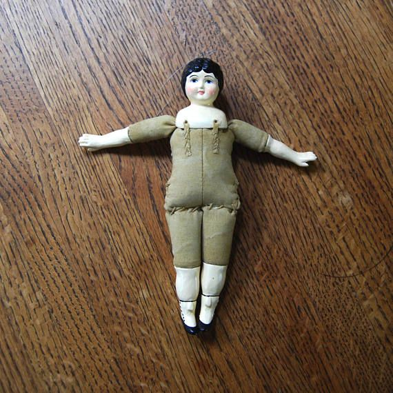 Antique Victorian Style China Doll Christmas Everyday Ornament