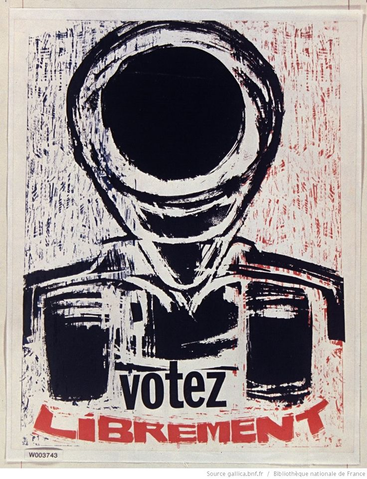 [Mai 1968]. Votez librement, Atelier populaire : [affiche] / [non identifié]
