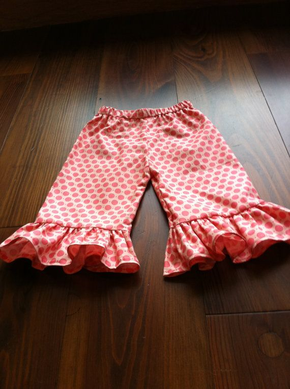 Ruffle pants pattern. 6mo to 6 years old.
