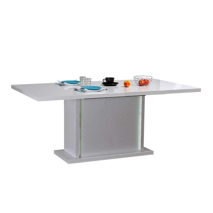 Design Esstisch mit LED Beleuchtung Weiß Hochglanz küchentisch,esszimmertisch,ausziehtisch,eßtisch,esstisch,tischgestell,esszimmer tisch,essenstisch,tisch zum ausziehen,küchen tisch Jetzt bestellen unter: https://moebel.ladendirekt.de/kueche-und-esszimmer/tische/esstische/?uid=e60f83b0-16fa-5359-a174-371821199d2a&utm_source=pinterest&utm_medium=pin&utm_campaign=boards