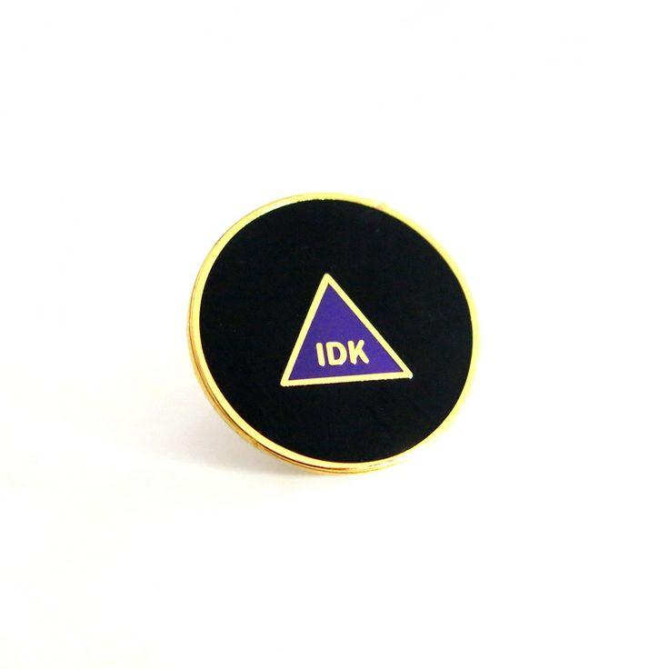 """""""IDK"""" MAGIC 8 BALL Enamel Lapel Pin ($8)"""