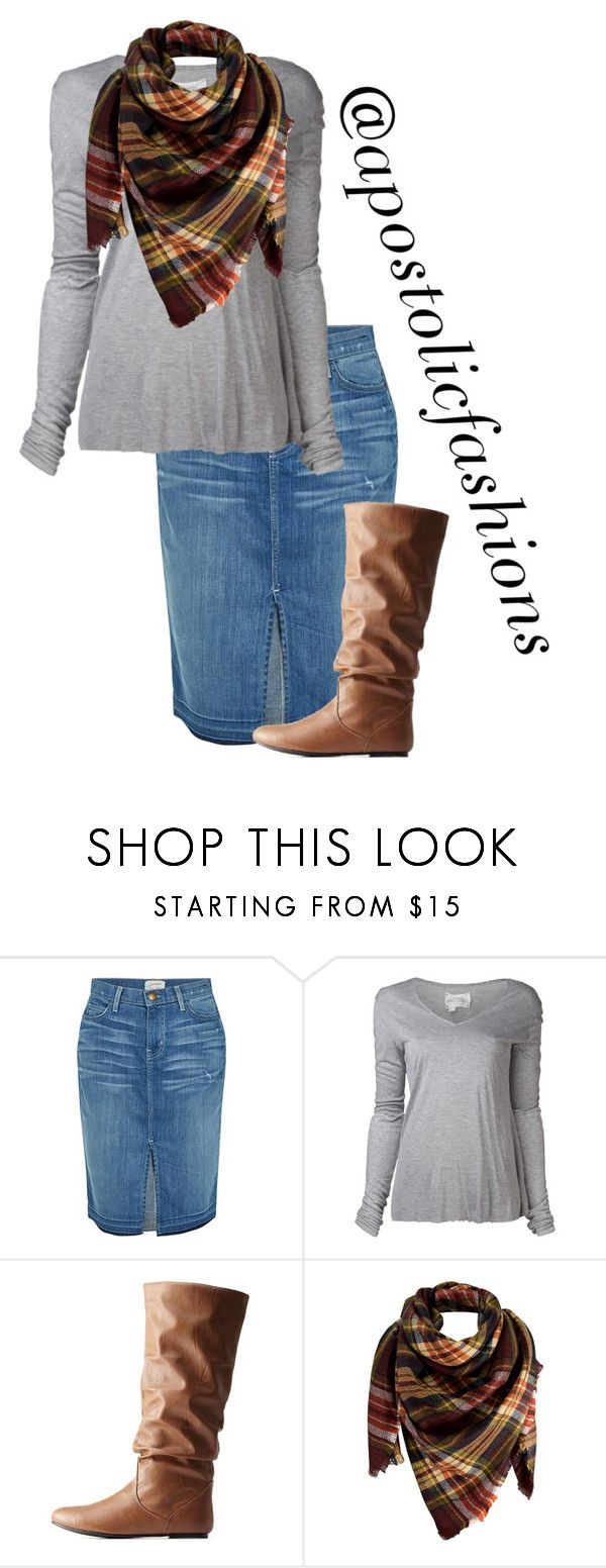 """Apostolic Fashions #1692"" by apostolicfashions ❤ liked on Polyvore featuring Current/Elliott, Greg Lauren, Charlotte Russe and Peach Couture"
