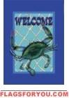 Welcome Crab Garden Flag