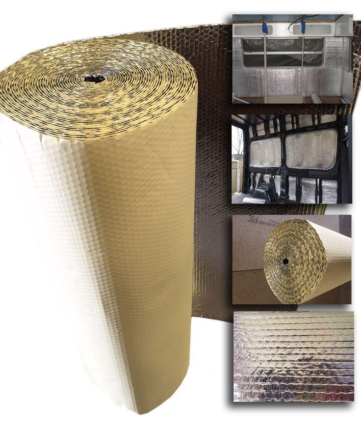 10 x 1.05m SELF ADHESIVE Thermal Bubble Foil Insulation caravan Camper van kit | eBay