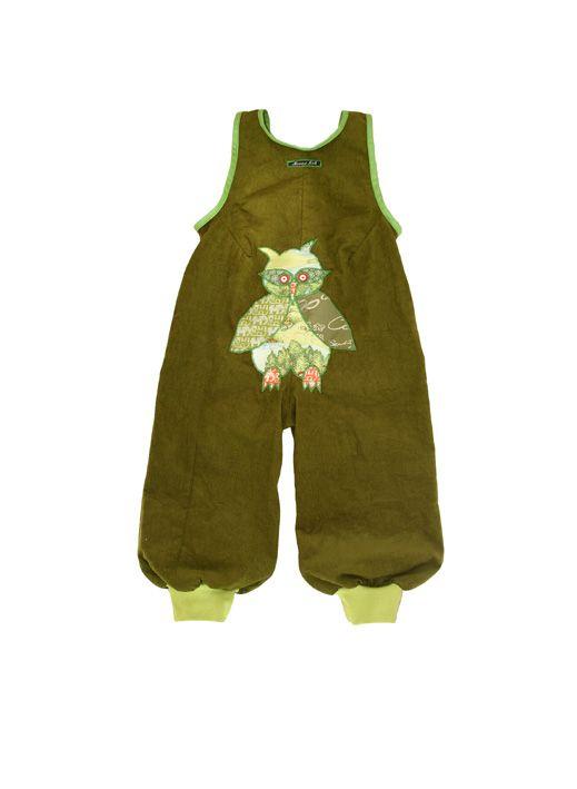 Backside - Green owls on velvet :-)