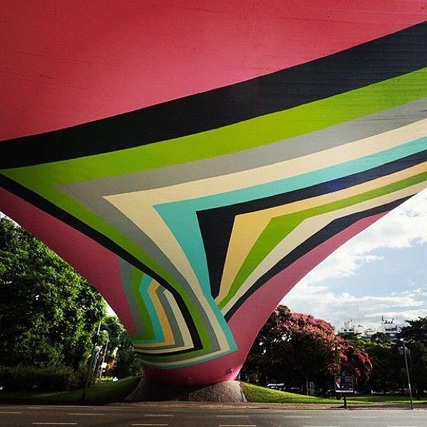 Street art under bridge