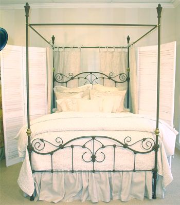 Black Iron Bed