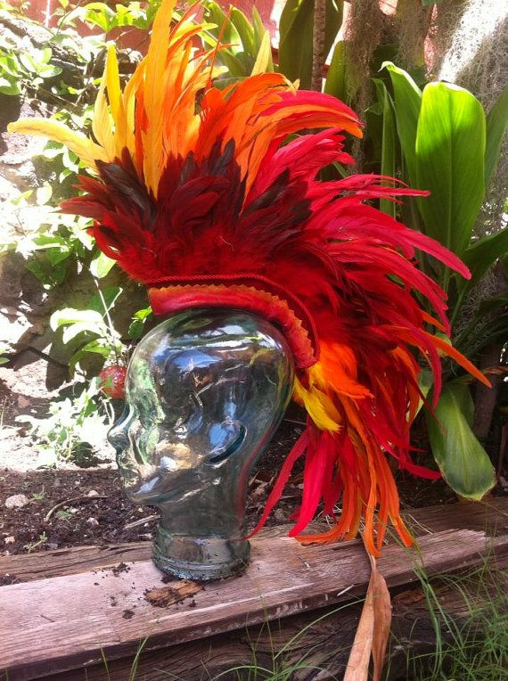 Feather Mohawk / Headdress  The Phoenix V2 by michellecuriel