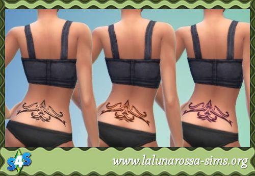 Sims 4 Waist Tatoo