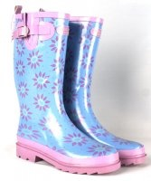 pretty laura ashley blue wellies from easywellies.co.uk