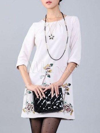 #Milanoo.com Ltd          #Vintage Dresses          #Apricot #Round #Neck #Half #Sleeves #Cotton #Polyester #Womens #Dress        Apricot Round Neck Half Sleeves 50% Cotton 50% Polyester Womens Dress                                   http://www.snaproduct.com/product.aspx?PID=5685040