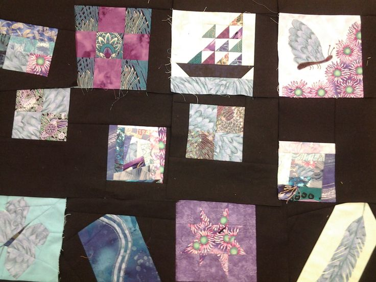 Bag quilt challenge from many years ago