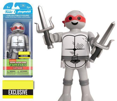 Teenage Mutant Ninja Turtles Raphael Black and White 6-Inch Playmobil Action Figure - Exclusive