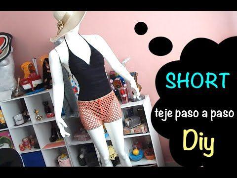 Short Tejido sencillo y Muy Fácil Ganchillo Crochet talla chica