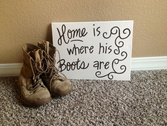 Custom Military Quote Canvas on Etsy, $20.00