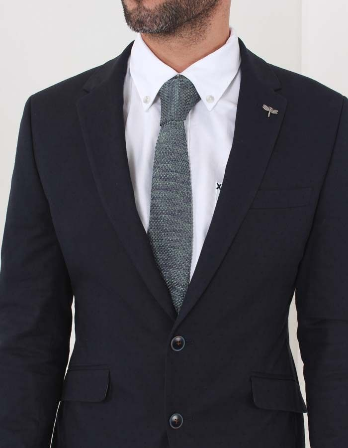 Gibson Teal Knitted Tie | Accent Clothing