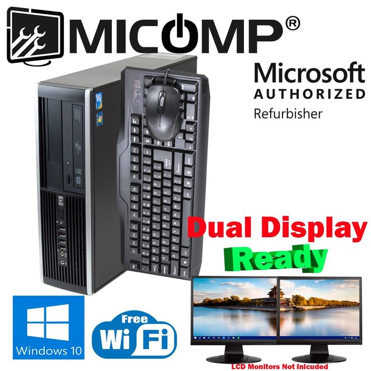 Build Your HP Windows 10 Computer PC i5 3.2Ghz 4GB 8GB 16Gb 2TB/ 500G SSD WiFi  Item specifics  Condition:  Seller refurbished :   An item that has been restored to working order by the eBay seller or a third party not approved by the manufacturer. This means the item has been inspected cleaned and repaired to full working order and is in excellent condition. This item may or may not be in original packaging. See the sellers listing for full details. See all condition definitions opens in a…