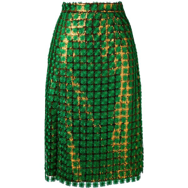 Marco De Vincenzo Sequin Skirt ($1,674) ❤ liked on Polyvore featuring skirts, green skirt, marco de vincenzo skirt, green sequin skirt, marco de vincenzo and sequin skirts
