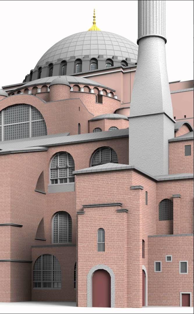 Hagia Sophia - Constantinople, Byzantine Empire - 3d model