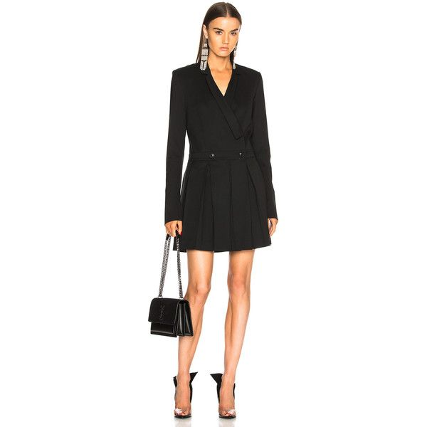Helmut Lang x Shayne Oliver School Girl Blazer ($700) ❤ liked on Polyvore featuring outerwear, jackets, blazers, helmut lang, helmut lang blazer, olive green jackets, padded shoulder blazer and army green jackets