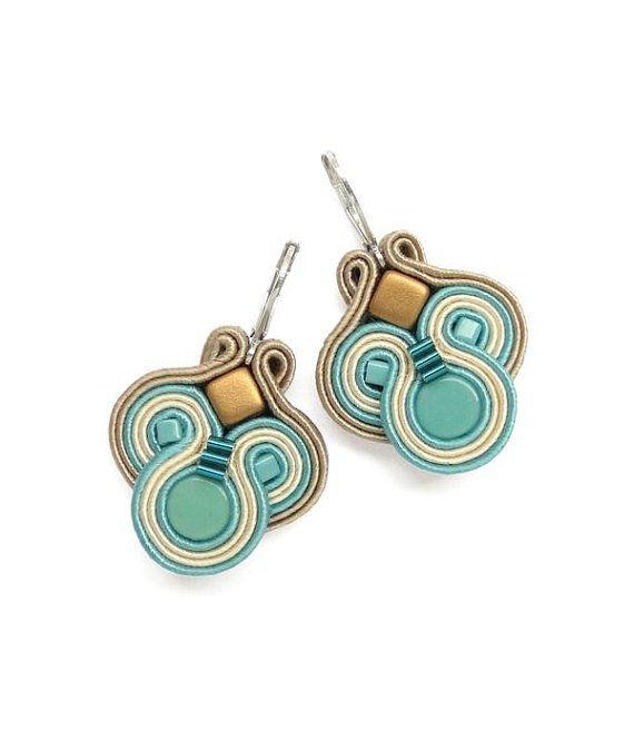Turquoise Earrings Turquoise Chandelier Earrings by BeadsNSoutache