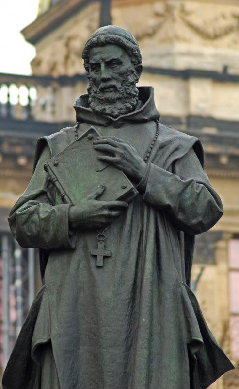 Josef Václav Myslbek - St.Procopius (sv.Prokop) as a part of St.Wenceslas (Václav) equestrian statue - a sculptural group of Czech saint patrons at Wenceslas Square, Prague, Czechia (installed 1912-1924) #sculpture #Czechia #CzechArt #art #memorial