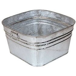 Galvanized Wash Tubs - This was my early childhood swimming pool.  Filled it with the backyard hose.