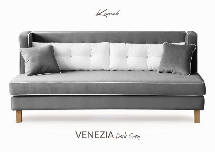 Sofa Venezia to elegancki kształt, komfort i niezwykła jakość wykończenia w jednym. Idealna na niedzielny wypoczynek jak i chwile relaksu przy porannej kawie. Prawdę mówiąc, Venezia zachwyci każdego.  #komeb #sofa #szary #livingroom #pokój dzienny #wystrój #aranżacja #ekologia #projektowanie #wygodna #grey #modern #furniture #meble