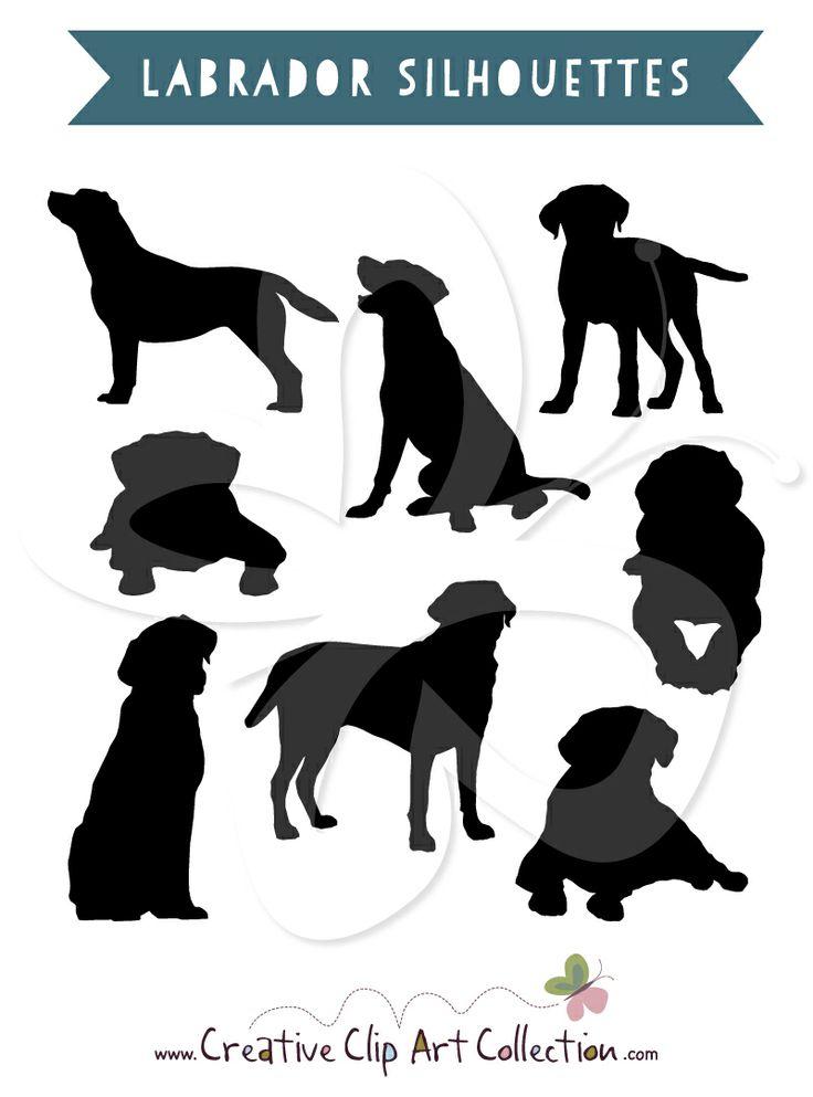 Labrador Silhouettes clip art clipart set by Creative Clip Art Collection. #clipart #labrador #labradors #silhouette #silhouettes