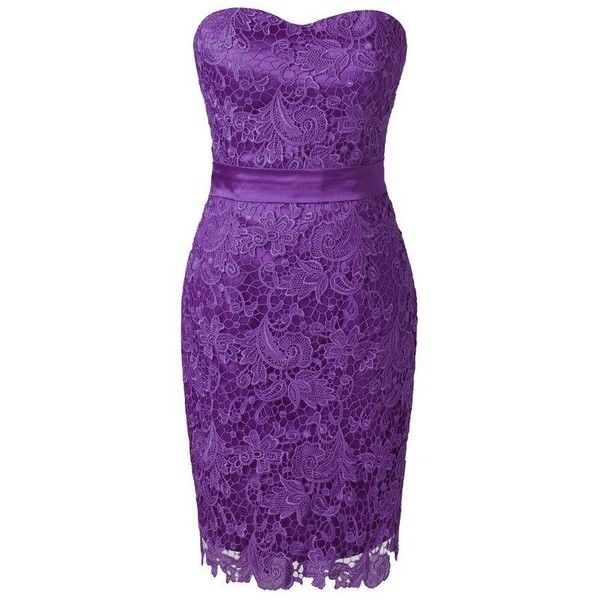 Voguevers Women's Sweetheart Lace Sheath Short Bridesmaid Dress Party... (120 AUD) ❤ liked on Polyvore featuring dresses, short purple dresses, lace bridesmaid dresses, purple cocktail dress, purple bridesmaid dresses and short lace cocktail dress