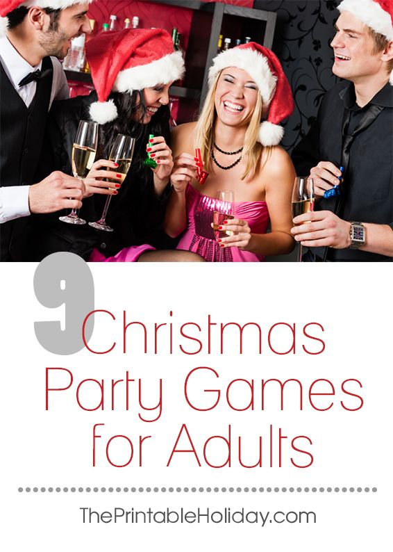Christmas party games aren't just for kids. Whether you're organizing a company Christmas party or planning a get together for a few close friends, planning some Christmas party games for adults will ensure your event is a success. | 9 Christmas Party Games for Adults from #ThePrintableHoliday