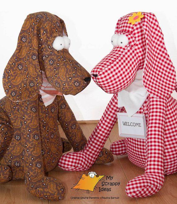 DIY Drop-Ear Dog - Toy / Door-Stop / Home Decoration / Plushie - PDF Sewing…