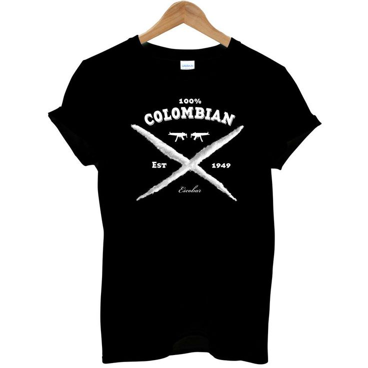 100% Colombian Pablo Escobar El Patron Cocaine Drug Lord Fashion Mens T Shirt | eBay