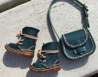 Real Leather:1/6 Blythe Shoulder bag/Dark brown by Amabiledoll