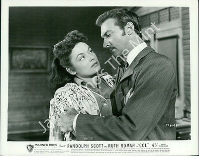 AAX-219 Photo RUTH ROMAN, ZACHARY SCOTT Scene from Colt .45 1950