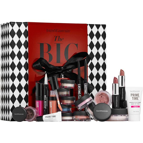 bareMinerals® The BIG TOP (245 BRL) ❤ liked on Polyvore featuring beauty products, makeup, cosmetics, bare escentuals, mineral cosmetics, polish makeup, long wear makeup and bare escentuals makeup