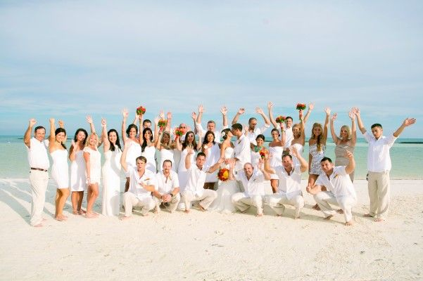 All white beach wedding. Love!