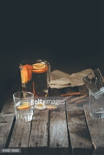 Stock Photo : Glasses on table