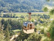 Sterling in Calistoga. Fun gondola ride up to winery and spectacular view from the top overlooking Napa!