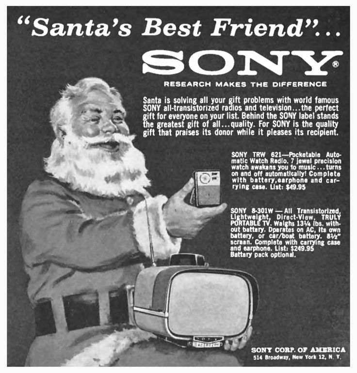 Santa's Best Friend… Sony Electronics, 1961