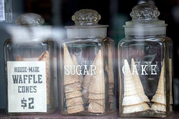 food photography ice cream cones vintage glass by pinestreetphoto, $12.00