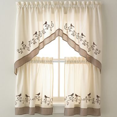 Birds window treatments jcpenney home pinterest - Jcpenney bathroom window curtains ...