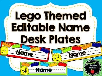 Fun and unique Lego inspired name desk plates. Editable to add your students' names Looking for even more Lego themed classroom decor and resources? Check out my other Lego themed products: Back to School Bulletin Board EDITABLE Lego Themed Lego Themed Word Wall Fry's First 4,, Words With EDITABLE Bricks Lego Resources BUNDLE...