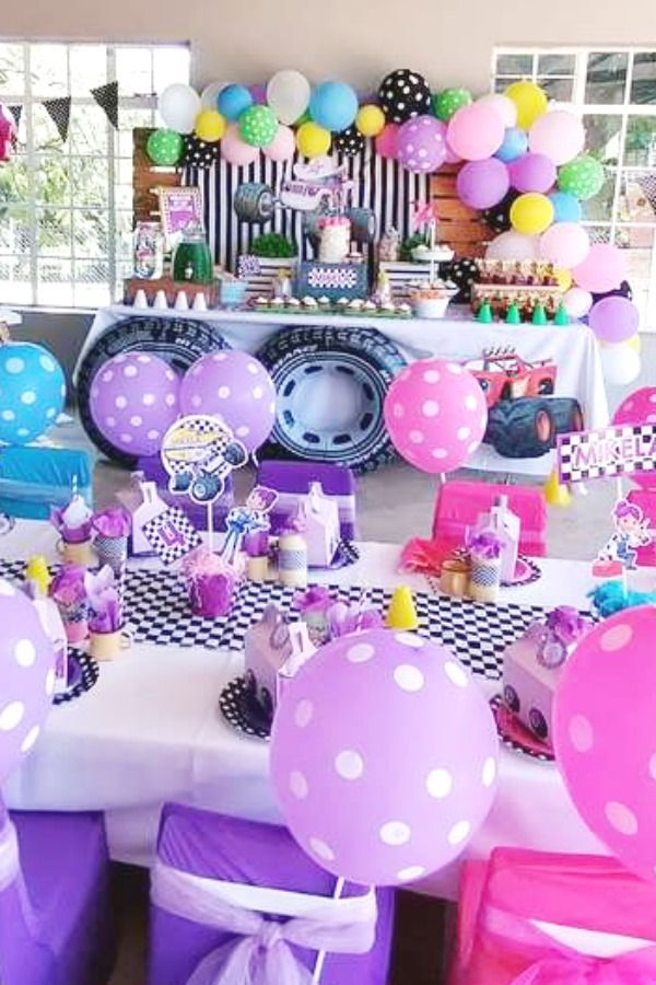 Blaze And The Monster Machines Table Settings In 2020 Girls Birthday Party Themes Blaze And The Monster Machines Party Girls Birthday Party