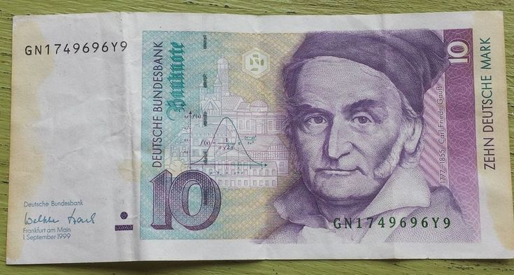 Germany 10 Mark P38 1999 Pre Euro Banknote Carl Friedrich Gauss Paper Money