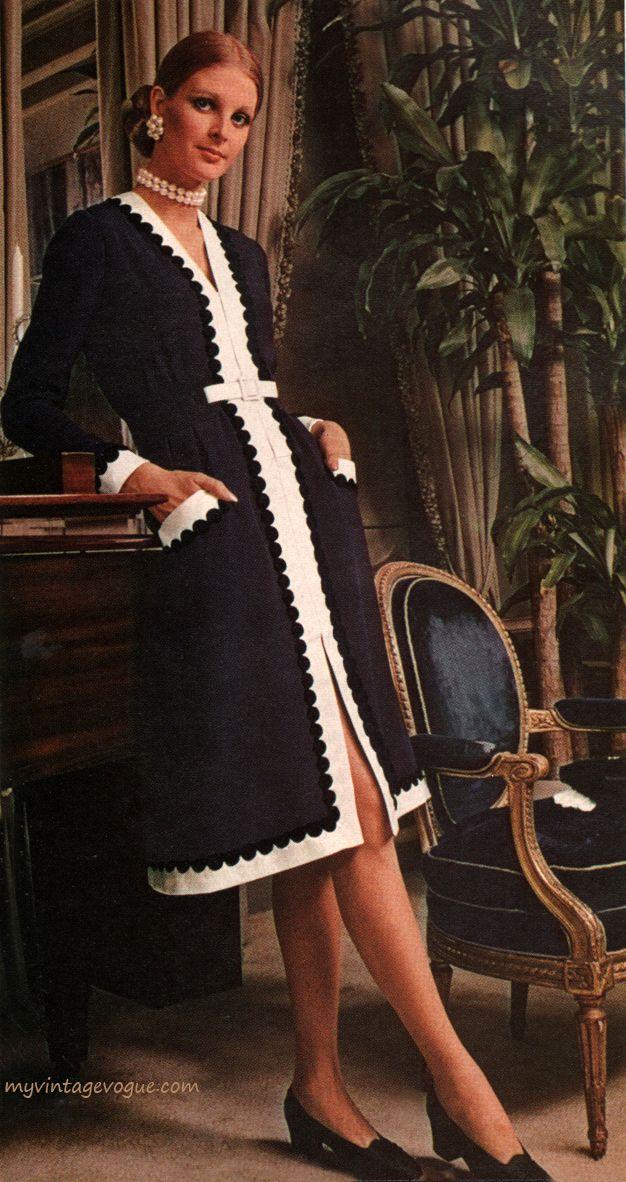 Fashion by Oscar De La Renta in the Vogue Pattern Book, April/May 1971.