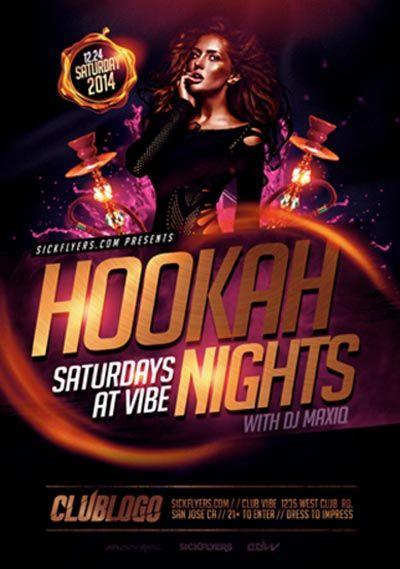 Hookah Nights Flyer Template - http://ffflyer.com/hookah-nights-flyer-template…