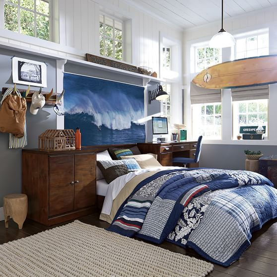 25 best ideas about surf theme bedrooms on pinterest surf room surf bedroom and beach dorm - Teen beach bedroom ideas ...