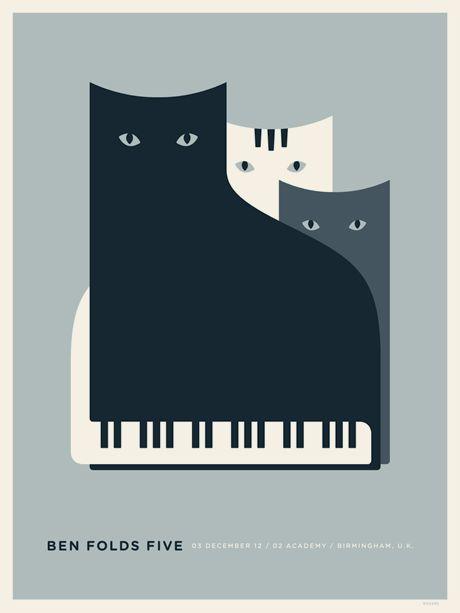 Ben Folds Five poster design by Jason Munn: