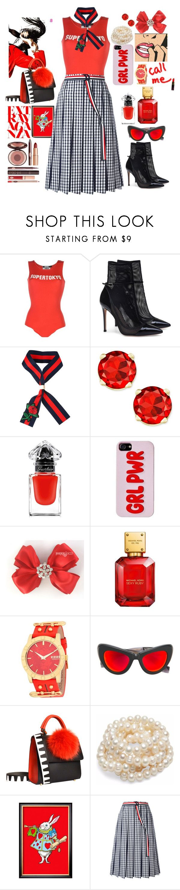 """""""Alice"""" by hyunaluna ❤ liked on Polyvore featuring STK SuperTokyo, Guerlain, Charlotte Tilbury, John Lewis, Versus, Jacques Marie Mage, Les Petits Joueurs and Thom Browne"""